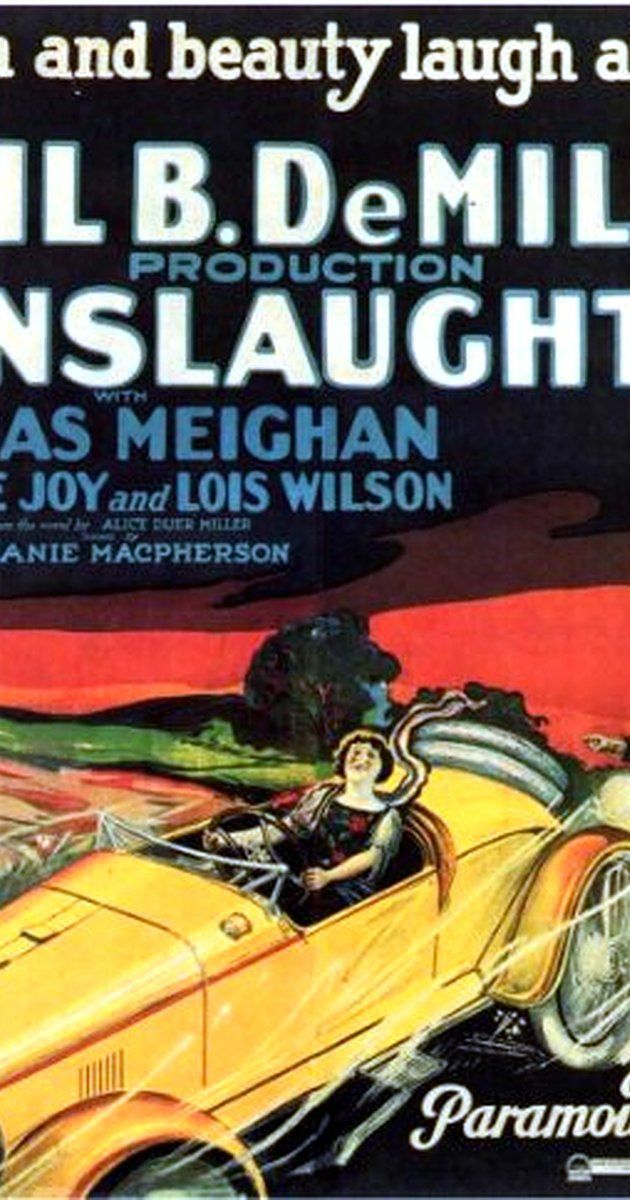 Directed by Cecil B. DeMille.  With Leatrice Joy, Thomas Meighan, Lois Wilson, John Miltern. Society-girl thrill seeker Lydia causes the death of motorcycle policeman and is prosecuted by her fiancé Daniel who describes in lurid detail the downfall of Rome. While she's in prison she reforms and Daniel becomes a wasted alcoholic.