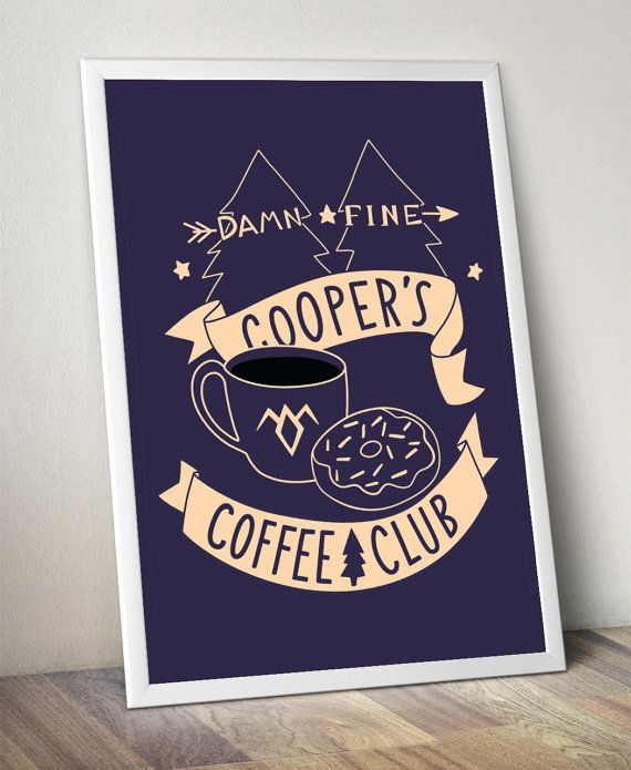 cooper's coffee club poster 18 X 24 and 12 X 16 sizes by bunnydee