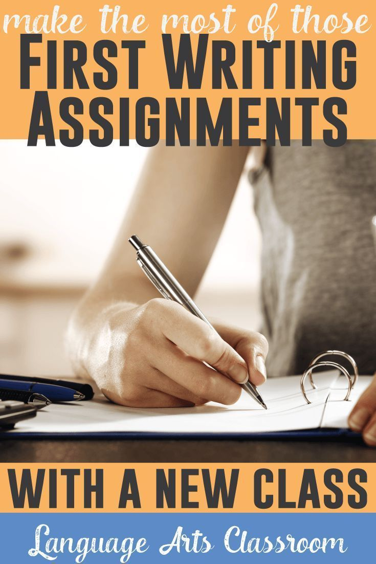 Make the most of those first writing assignments with a new class. One teacher's method.