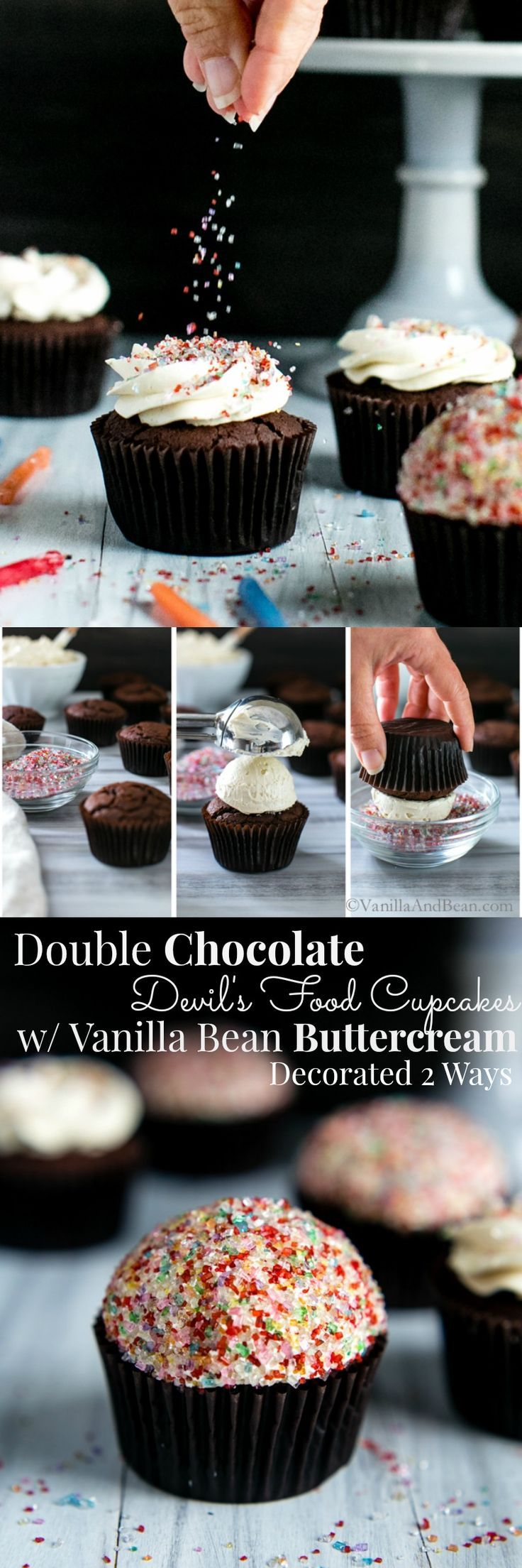 A chocolate lovers dream, decorated two ways!