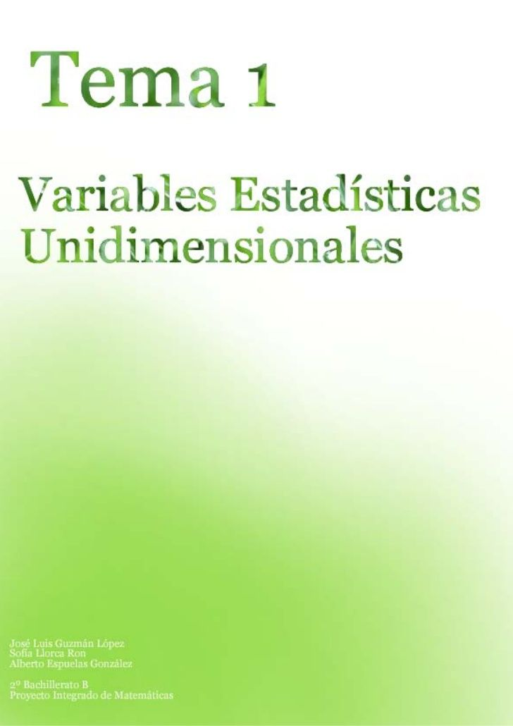 Conceptos estadísticosProyecto Integrado                         Tema 1Población           Se denomina población al conjun...