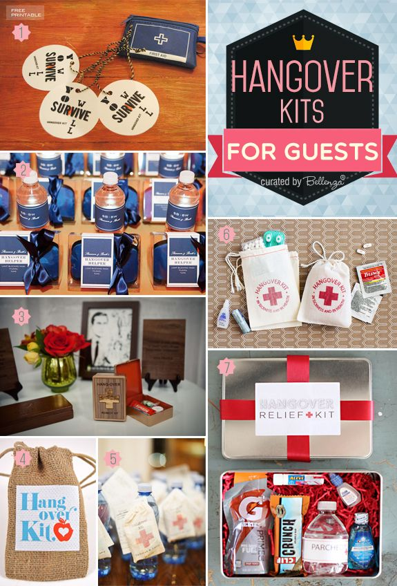 Hangover Kits! Ideas to Get Guests Feeling Good After a Night of Revelry!