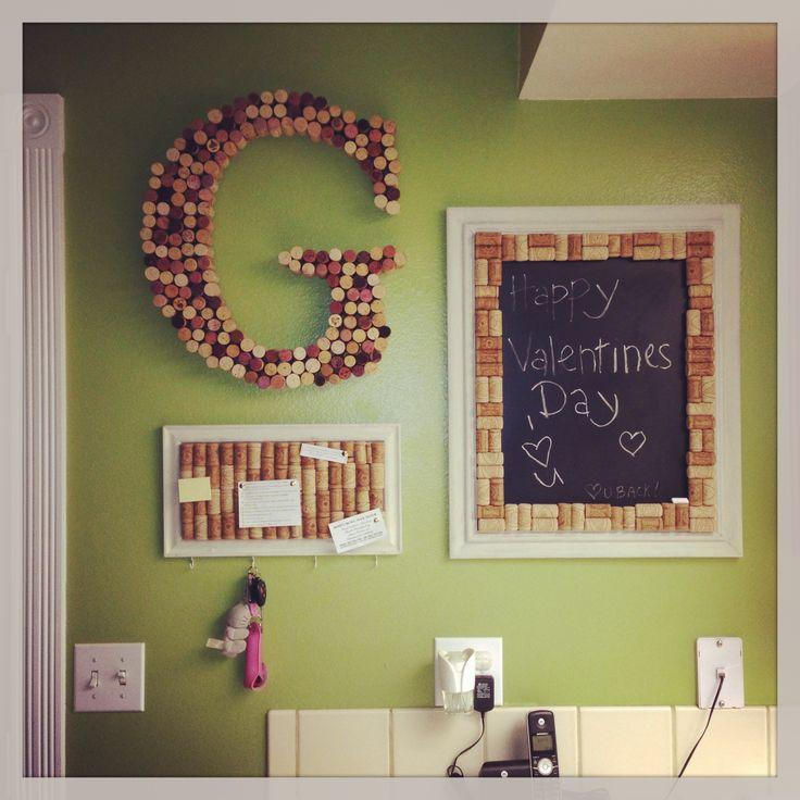 wine cork letter g wine cork picture frame key hanger picture frame chalk board