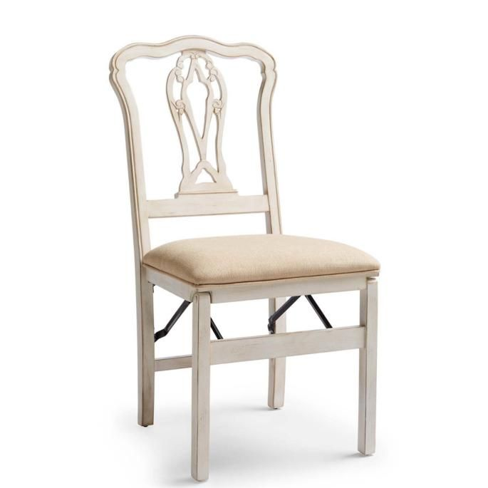 Chippendale Pierced Back Folding Chairs Set Of Two Folding Dining Chairs Dining Chairs Chair