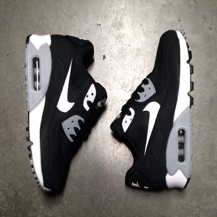 Women's Air Max 90 Black White Wolf Grey