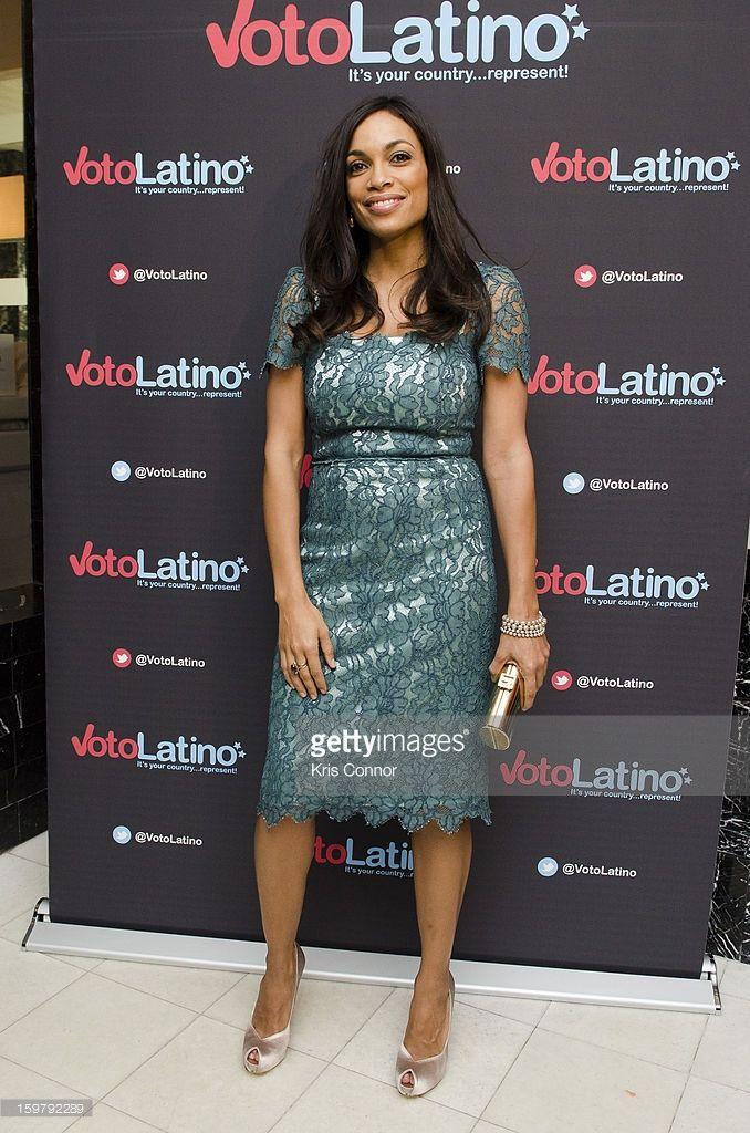 Rosario Dawson poses for a photo during the Voto Latino's 2013 Inauguration Celebration at Oya Restaurant on January 20, 2013 in Washington, DC.