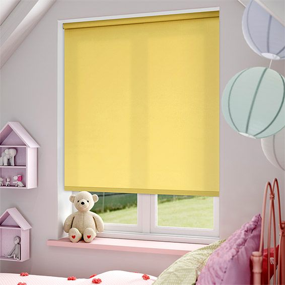 Valencia Pale Yellow Roller Blind from Blinds 2go