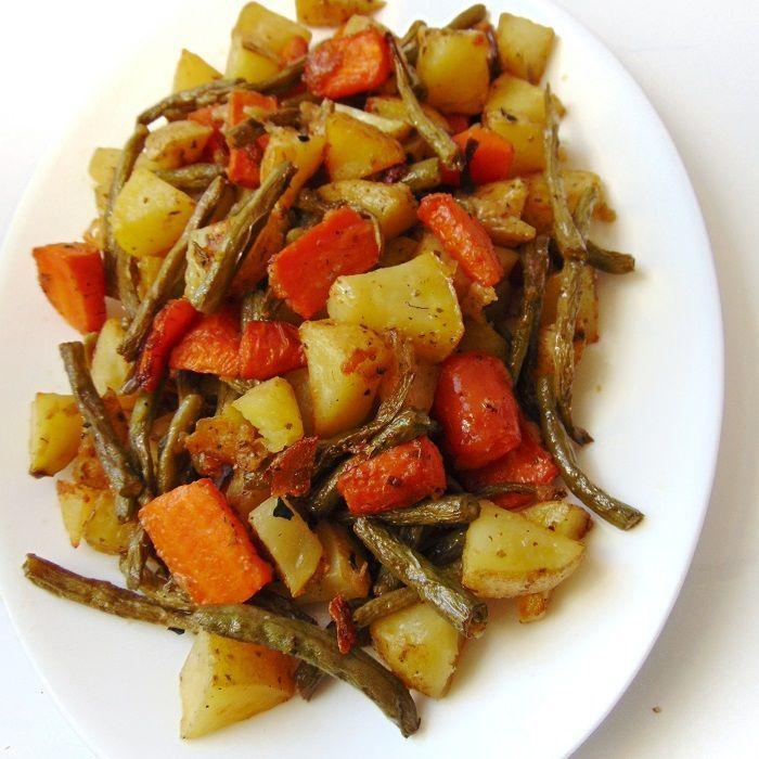 Verduras al horno con queso parmesano | Alternativa a la verdura hervida