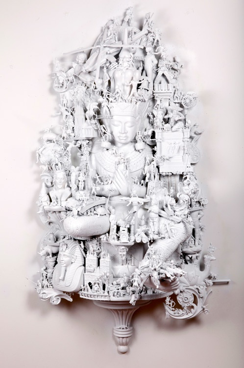 "Artist: Rondle West; Found Objects 2010 Sculpture ""One more day at the salt…"