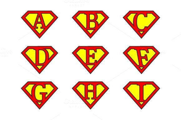 #Superman #letters by stockimagefolio on Creative Market