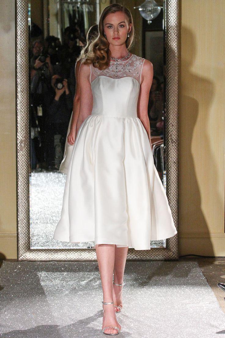 17 best images about bridal fashion week fall 2015 on for Oleg cassini wedding dress tea length