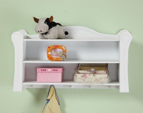 HUSH HUSH White Sleigh Childrens Nursery Storage Shelf / Unit SIMLPLY EXQUISITE! Made from Solid Wood and mdf, with Easy Wipe Surface by Hush Hush, http://www.amazon.co.uk/dp/B0094V0S26/ref=cm_sw_r_pi_dp_KvJbtb0W945N6
