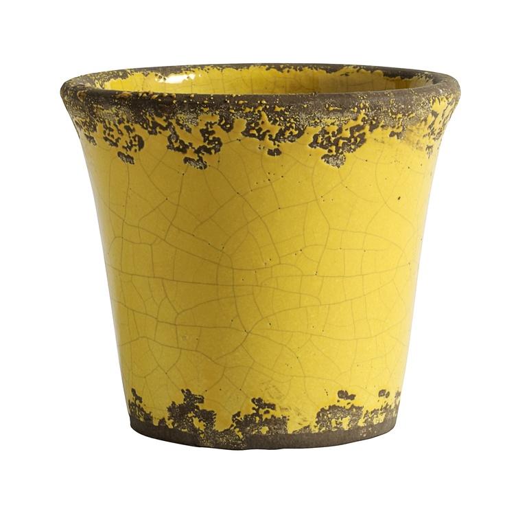 Flower pot - Yellow