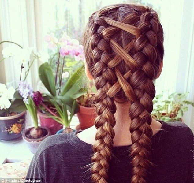 Instagram fame: Instabraid has a cult - and celebrity - following of over one million braid-worshippers, and posts several pretty inspirations daily (pictured)