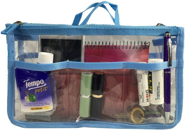 Wholesale Handbag Organizer - Clear/Light Blue (Case of 20)