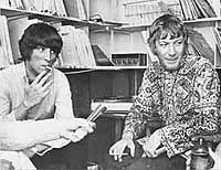 Radio Caroline DJs Johnnie Walker & Robbie Dale 1967