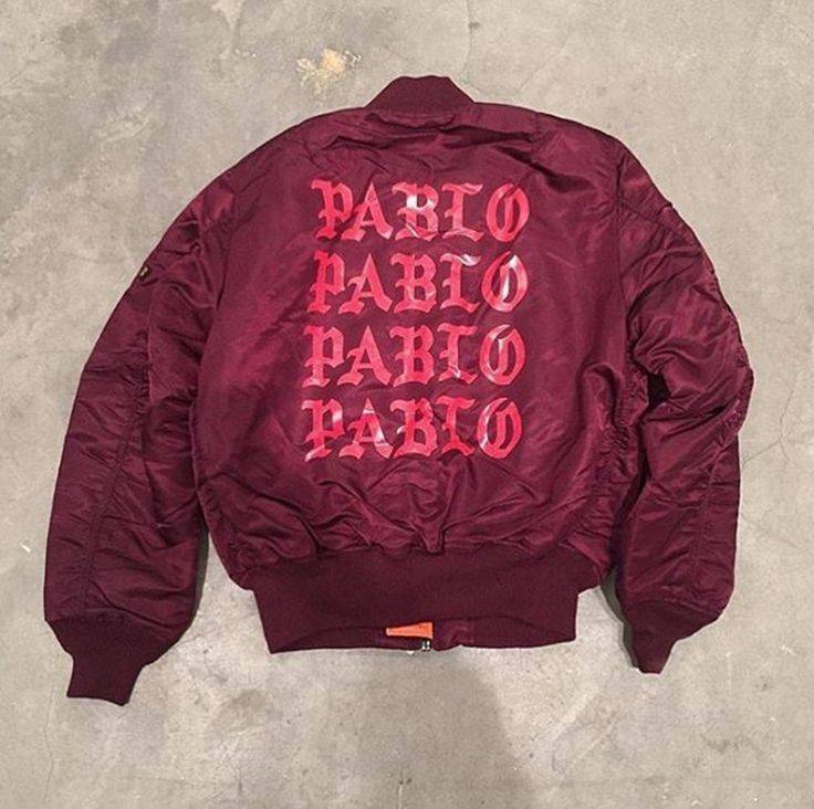 Our MA-1 bomber, customized by Kanye West for his Life of Pablo pop-up shop. This just moved to the top of your wish list.