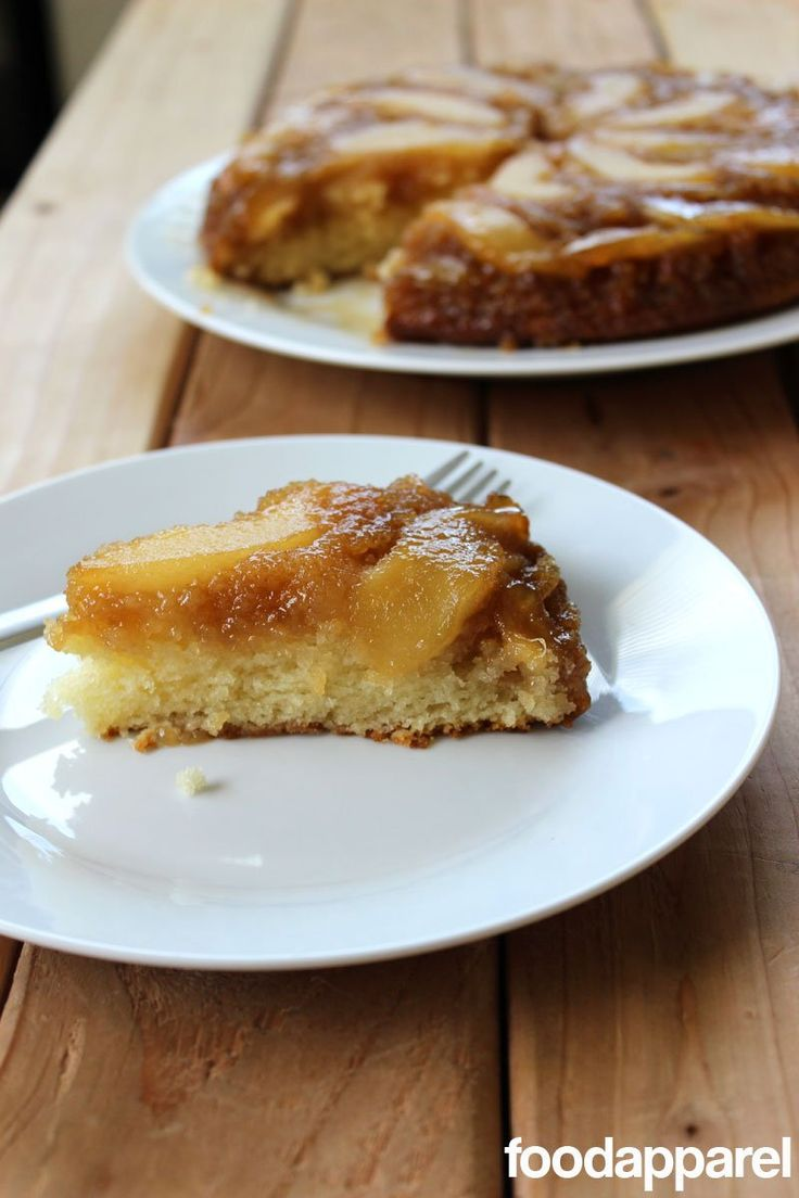 Pear Upside-Down Cake - an amazingly moist, caramely, and utterly delicious cake. Everyone's always fighting to lick the pan!