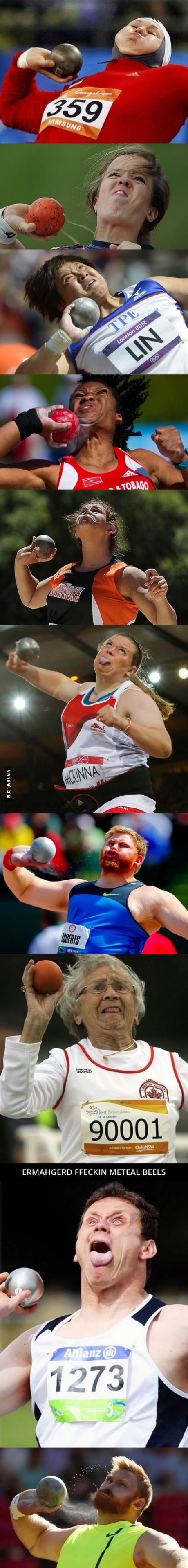 Have you guys heard about shot put faces?