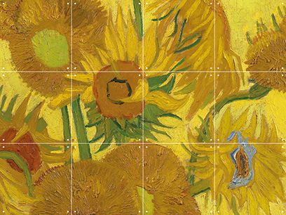 Win een IXXI wanddecoratie van Zonnebloemen van Van Gogh