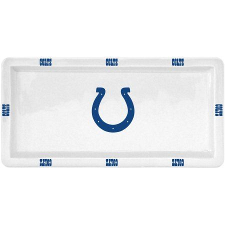 NFL Indianapolis Colts Rectangular Game Time Platter, Multicolor