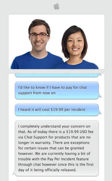 Apple flips the switch on paid chat support, introduces Here to Help program for AppleCare employees