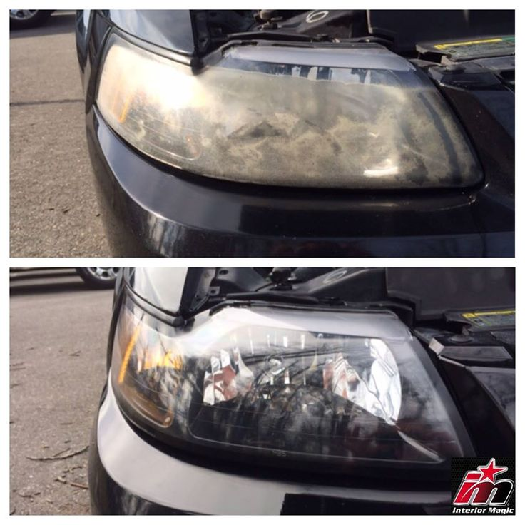 Interior Magic can rejuvenate your headlights!