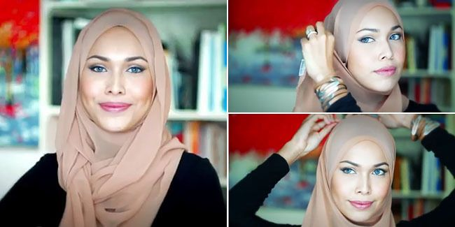 Easy 2 Pins Hijab Tutorial