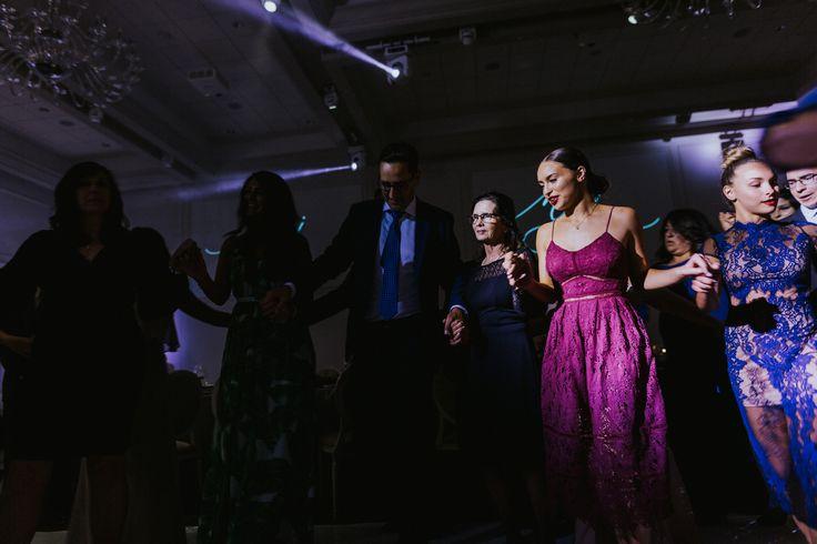 Greek dance at wedding, photojournalist wedding photography by Joel + Justyna Bedford