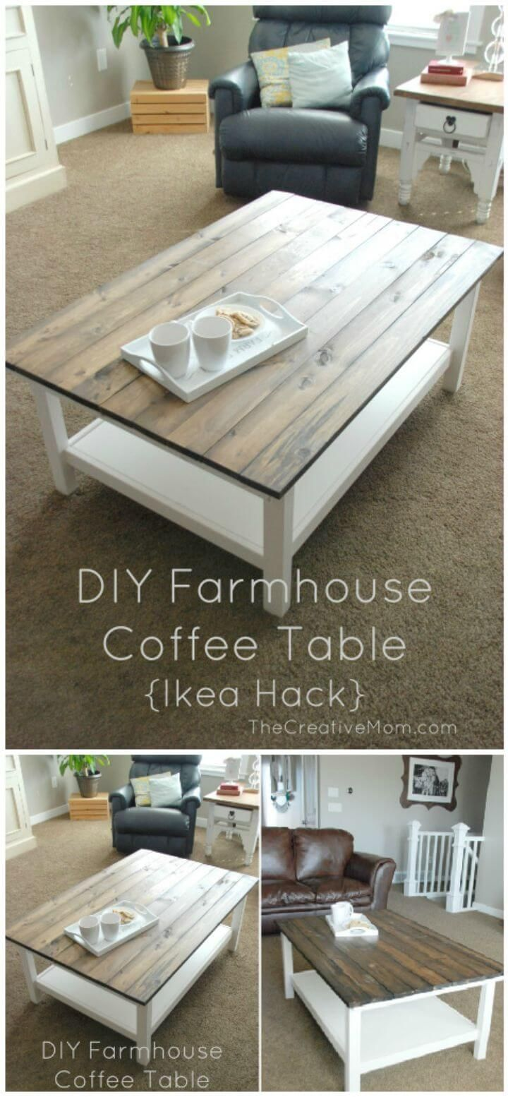 Diy Coffee Tables 75 Diy Table Makeover Ideas To Upgrade Your Tables See More At Https M Diy Farmhouse Coffee Table Diy Coffee Table Coffee Table Farmhouse [ 1554 x 720 Pixel ]