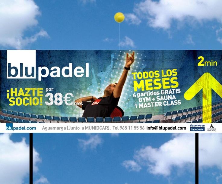 Blupadel Valla 8x3m. con elementos externos. Alicante. 2012.