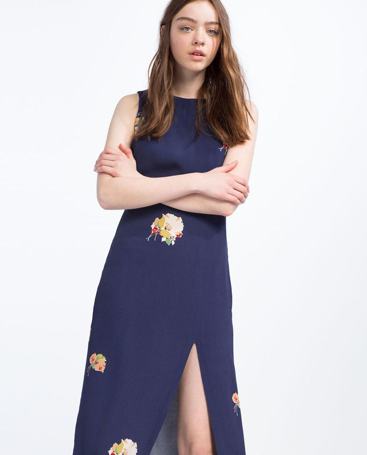 DRESS WITH SLITS-DRESSES-TRF | ZARA United States