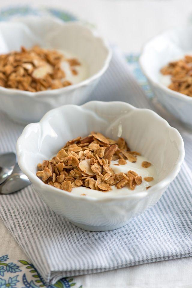 Homemade Vanilla and Honey Granola Recipe from www.inspiredtaste.net #recipe #breakfast #granola