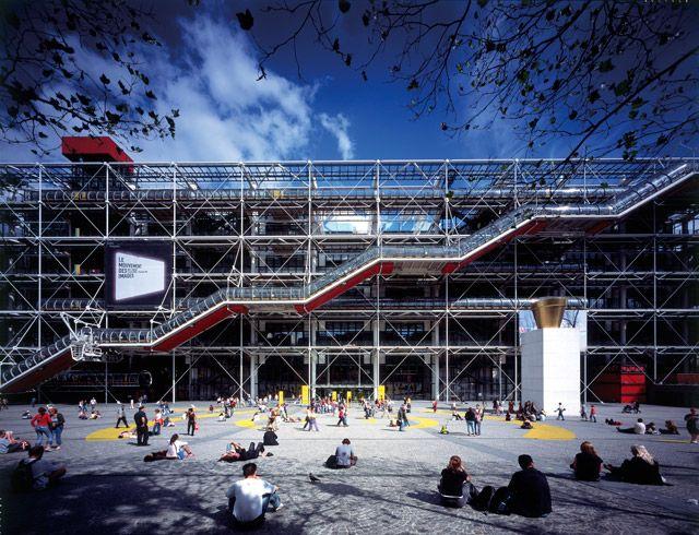 Centre Pompidou, Paris, France, 1977. Selected Works: Richard Rogers | The Pritzker Architecture Prize