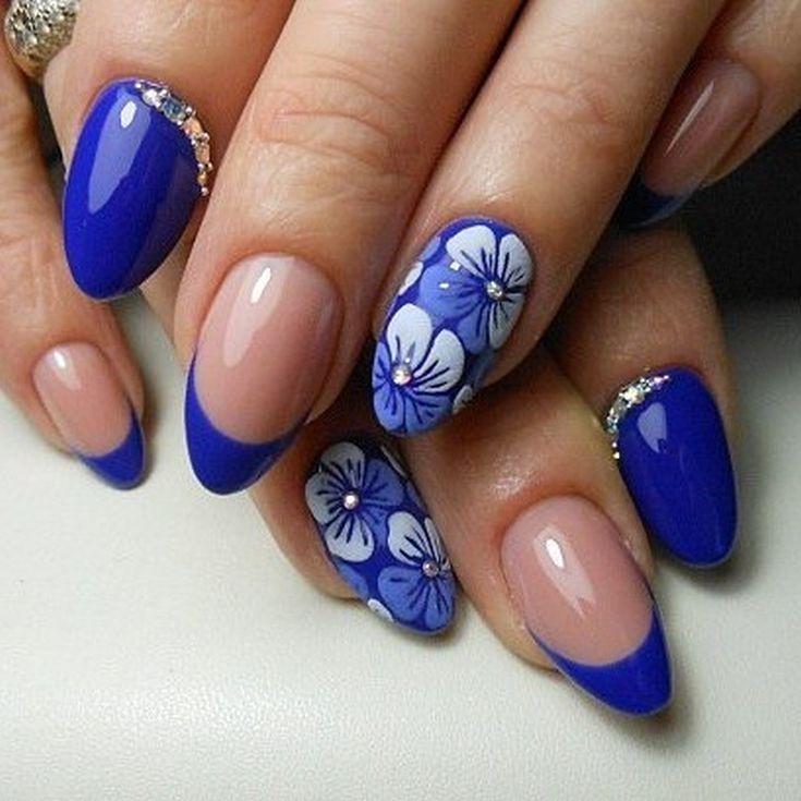Дизайн ногтей синего цвета фото новинки | Матовый дизайн ногтей ...