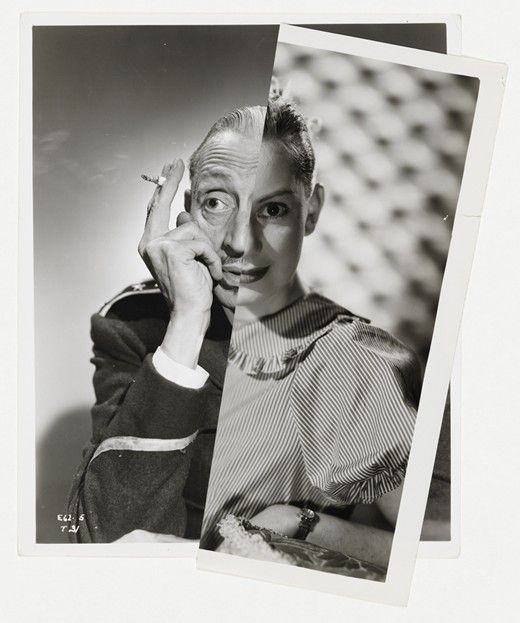 Top Ten Collage Artists: From Hannah Hoch to Man Ray | John Stezaker, Muse (Film Portrait Collage) XVIII, 2012