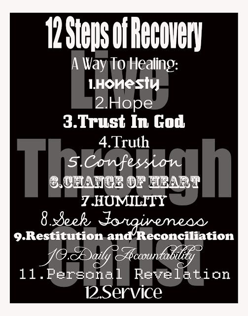These are the principles behind the 12 steps.