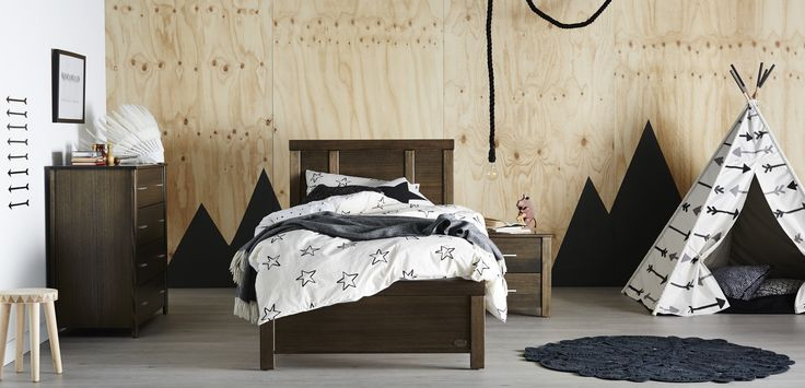 Your room-crush awaits - blending traditional, rich colours with modern design and sustainable Australian Hardwood Timbers, the Jonah furniture collection provides the perfect bedroom solution for older kids and young adults.