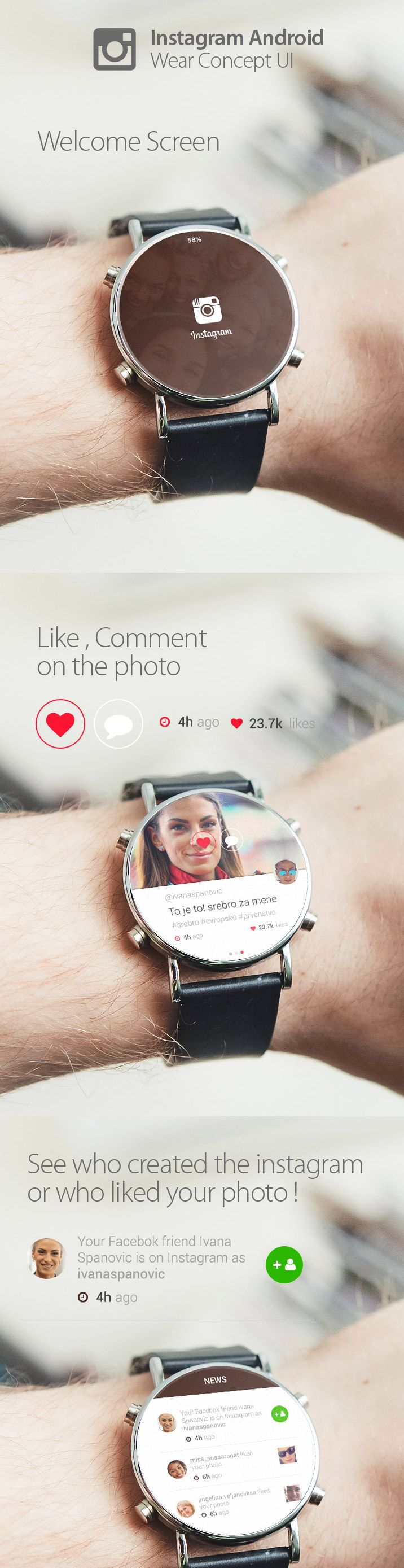 Instagram smartwatch UI http://www.cssdesignawards.com/articles/23-smartwatch-ui-designs-concepts/114/