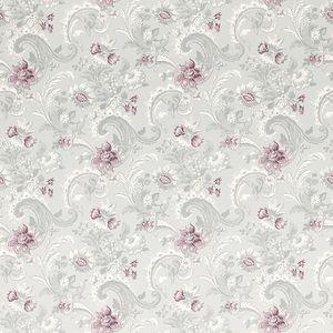 Baroque Pale Grape Floral Wallpaper