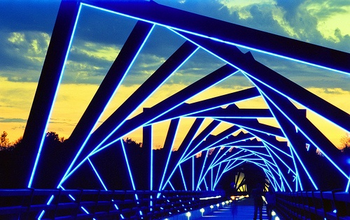 Trestle Bridge in Madrid, Iowa. What you see now? Just rolling around.