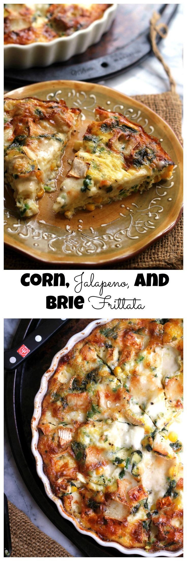 Corn, Jalapeno, and Brie Frittata | Recipe | Sweet corn, Sweet and ...