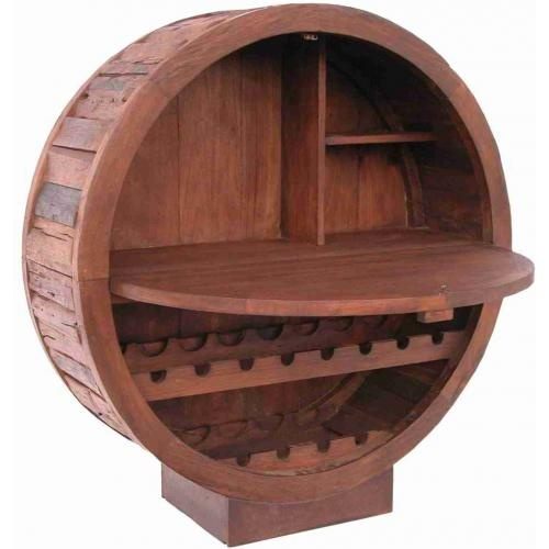 Barrel Rack with fold out table, Wine Enthusiast