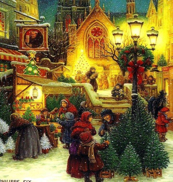 Buon Natale Arte.Natale Cartoline Di Auguri Animate E Non Bellissime Foto Natale Vintage Scene Di Natale Cartoline Di Natale