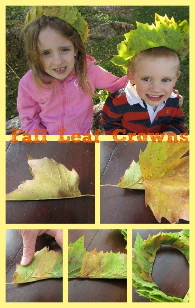 Make your own DIY Leaf Crowns!! #PoppinsBookNook