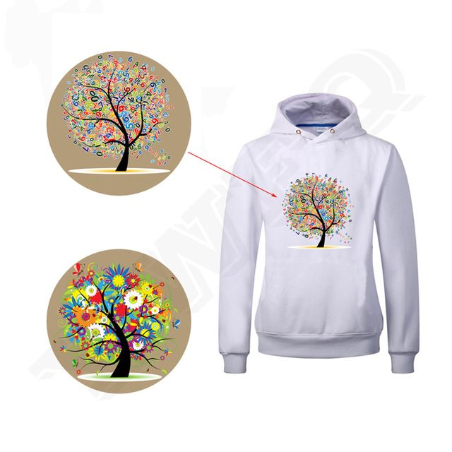 New Fashion Ladies Digital Tree Patches For Girls Clothes and Tights Easy By Household Irons A-level Washable DIY T-shirts