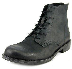 Aldo Radman Men Round Toe Leather Black Ankle Boot.