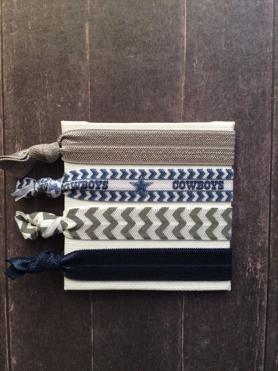 Dallas Cowboys  Chevron FOE Hair Ties by SimplyCraftyCo on Etsy