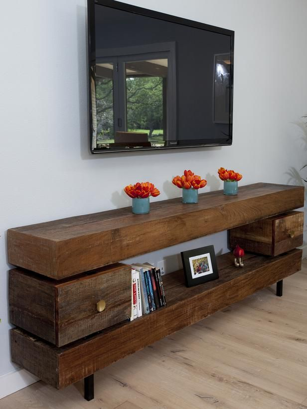 Another wood piece, functional, and natural. ---Contemporary Living-rooms from Drew and Jonathan Scott on HGTV
