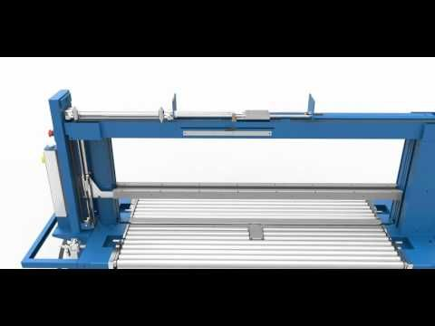 TRC-6 automatic strapping machine - YouTube